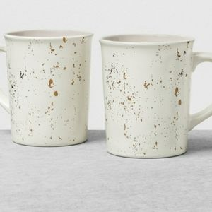Heart and Hand With Magnolia Stoneware Mugs